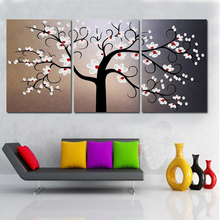 Wholesale Hand painted Canvas paintings Flowers Tree Artwork Modern Abstract Oil Painting Home Decor Wall Art Picture Gifts