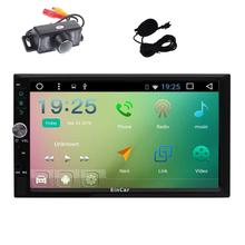 Android 6.0 Car Stereo Double 2Din Vehicle GPS Radio In deck Din Navigation Head Unit Support gps Mirrorlink WiFi+Backup Camera
