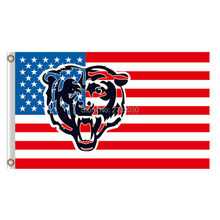 Us America Design Chicago Bears Flag Banners Football Team Flags 3x5 Ft Super Bowl Champions Banner Red Star World Series