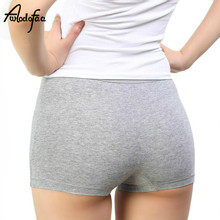 Buy Hot Sell Fashion Sexy Cotton Panties Women's Boyshort Female Breathable Pants Ladies Large Size Underwear Girls Underpant Fat