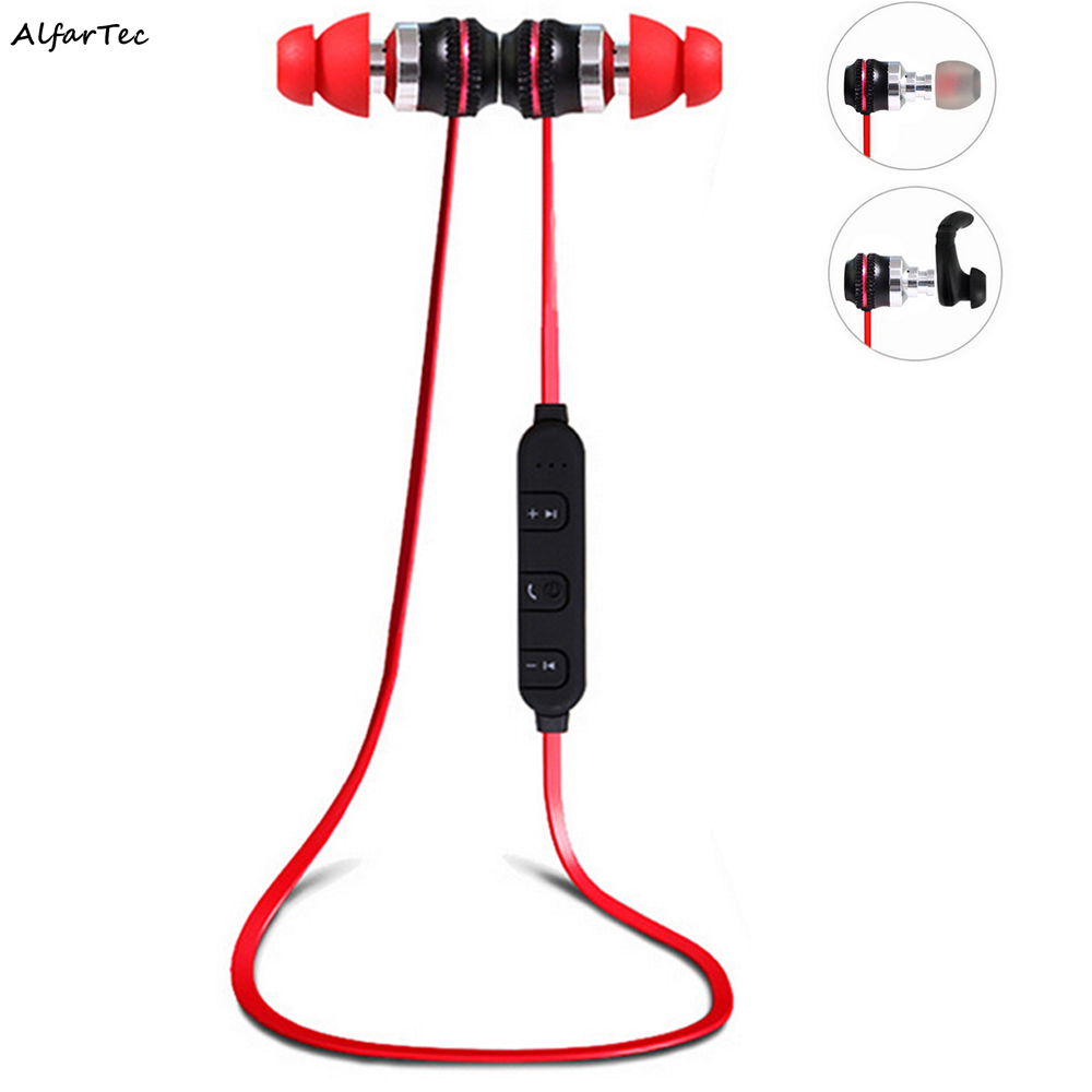 Metal Wireless Sports Stereo Earphone Bluetooth Bass Earphone with Noise Cancelling for Phone Xiaomi ios Andriod<br>