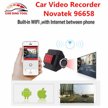 "Newest Car DVR Camera 2.4"" Full HD G-Sensor Car Video Record GPS Night Vision Novatek 96658 Dashboard 170 Degree Lens Free Ship(China)"
