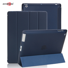 Case For iPad 2 3 4, aiyopeen Ultra Slim PU Leather Flip Cover Soft TPU Back Magentic Smart Case For iPad 2 3 4 A1430 A1460(China)