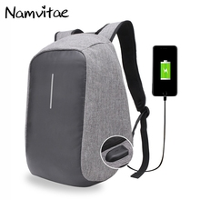 Anti-theft Multifunctional USB Charging Travel Laptop Backpack For Teenagers Men Waterproof School Bag Bobby Backpack Dropship(China)