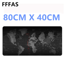 FFFAS 80cm x 40cm Super big Desk Cushion Table keyboard Mat Protector extended Mousepad game gamer gaming World map XL Mouse pad(China)