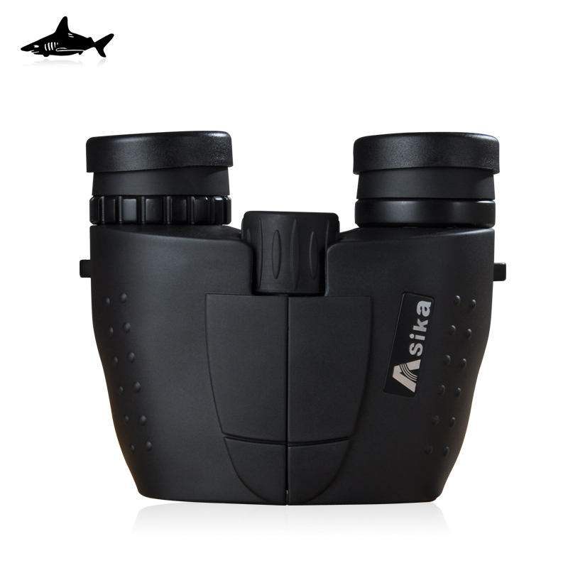 Free Delivery Shark asika 10X25 HD binocular telescope BAK4 green waterproof, anti fog film<br><br>Aliexpress