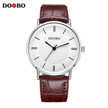 2017 Super Slim DOOBO Casual Men Watch Brand Quartz Wristwatch Business Analog Quartz-Watch Luxury Men Relogio Masculino(China)