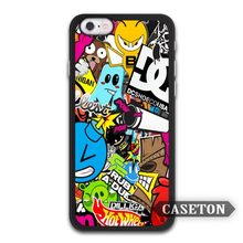 Many Stickers Bomb JDM Case For iPhone 7 6 6s Plus 5 5s SE 5c 4 4s and For iPod 5(China)