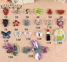 FFLACELL 20pcs/lot Mini sequined fashion clothes patch pants dress applique beaded collar hand sew accessories bags&Jewellery