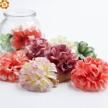 30pcs Silk Artificial Flowers chrysanthemum Head For Wedding home Car Decoration DIY Garland Decorative Fake Flowers(China)