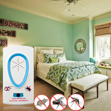 Electronic Ultrasonic Anti Mosquito Fly Cockroach Mouse Pest Control Pest Repeller Free EU UK Plug Environmental Protection(China)