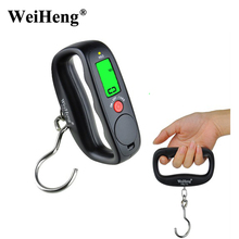 Buy WeiHeng 50Kg/10g Digital Hanging Hook Scales hand Portable Electronic Luggage Scale Travel Fishing Balance Weight scale for $6.11 in AliExpress store