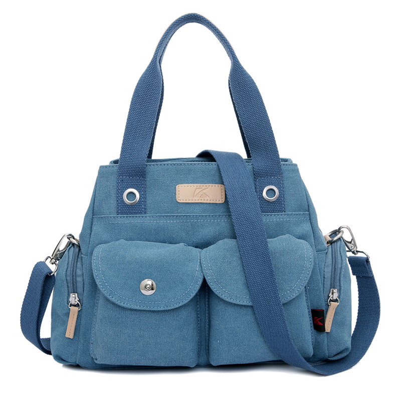 Fashion Lady Canvas Bag Women Handbag Casual Satchel Tote Shoulder Bag Large Capacity Female Messenger Bags<br>