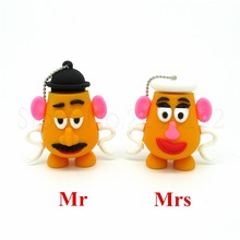Toy story series Mr & Mrs potato head pen drive usb flash drive disk mini computer gift memory Stick pendrive 4GB 8GB 16GB 32GB(China)