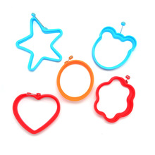 5 Pcs/Lot Silicone Egg Rings Fried Egg Mold Non-stick Kitchen Egg Cooking Tools Stars Heart Round Flower Animal Shape Egg Mold(China)