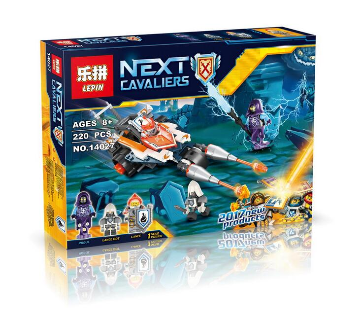Lepin 14027 Nexus Knights Building Blocks set Lances Twin Jouster Kids gift bricks toys compatible with 70348 P721<br><br>Aliexpress