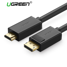Ugreen Displayport to HDMI Cable 1080P Male to Male DP to HDMI Adapter Converter Video Audio Cable for HDTV Projector Laptop