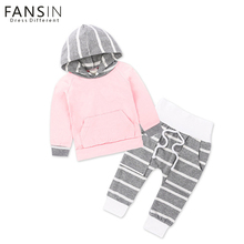 FANSIN Brand Newborn Baby Girls Clothes Hoodie Tops T-shirt+Cotton Pants 2pcs Suit Infant Baby Boys Girls Children Clothing Sets(China)