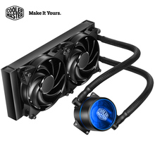 Cooler Master 280 CPU liquid Cooler Two 140mm fans Compatible Intel 2066 2011 155x AMD AM4 AM3 CPU Water cooling fan raditor(China)