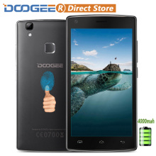 "DOOGEE X5 MAX Fingerprint 4000mAh Smartphone 5.0"" 1280*720 Android 6.0 MTK6580 Quad Core Cellphone 1GB+8GB 8MP+8MP Mobile Phone"