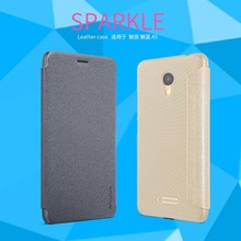 "Meizu m5c case flip cover 5.0"" Nillkin sparkle PU leather case for Meizu m5c meizu a5(China)"