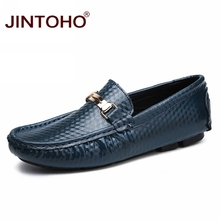 JINTOHO Summer Breathable Men Casual Shoes Fashion Male Shoes High Quality Men Genuine Leather Shoes Slip On Men Leather Loafers(China)