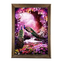 5D Diamond Embroidery Peacock Paintings Rhinestone Pasted Cross Stitch Kit Decor