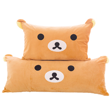 1pc Huge Size Cartoon Rilakkuma Bear Plush Pillow Large Stuffed Sofa Cushion Easy Bear Long Pillow(China)