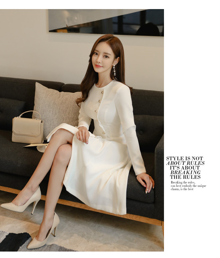 Elegant Dress Women Casual Long Sleeve Dress Office Lady Runway Designers High Fashion Dress 16
