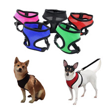 1PC Adjustable Soft Breathable Dog Harness Nylon Mesh Vest Harness for Dogs Puppy Collar Cat Pet Dog Chest Strap Leash(China)