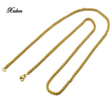 XUBEN Stainless steel round snake chain titanium steel single chain with necklace men and women general jewelry