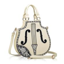 New Arrival Rock Style Women Handbag Electric Guitar Bag Woman Bags Fashion 2017 Designers Brand Leather Shoulder Bag for Lady(China)