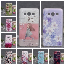 Luxury Phone Case For Samsung Galaxy A5 A500 A500F A5000 Cases 3D Relief Painting Soft Silicon Back Cover for Samsung A5 2015