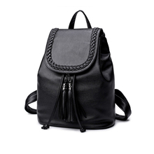 Stylish Women All-Match Backpacks Solid Color Elegant Type Function Bags And Casual Design Shoulder Bags For Ladies(China)
