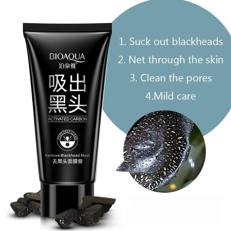 Face Care Acne Treatment Suction Black Mask Mineral Mud Facial Mask Nose Blackhead Remover Peeling Peel Off Black Head Skin Care 10