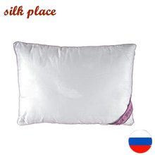 Silk Place Pillow Free Shipping From Russia 40x60 50x70 70x70 Size Natural Silk Pillow High Quality Pillows Soft Sleeping Pillow