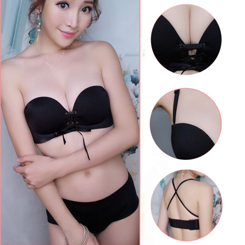 Sexy Women Invisible Bra Seamless Backless Removable Shoulder Strap Stretch Bra Push Up Underwear Female Bra New 3
