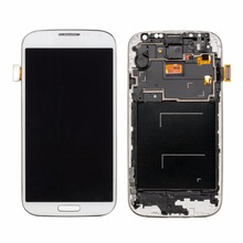 50PCS/Lot Deep Blue/White For Samsung Galaxy s4 LCD Display with Touch Screen Digitizer Assembly+Frame No Dead Pixels Free DHL