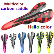 bicycle saddle glossy carbon saddle Multi color 3k full carbon fibre cycling MTB road bike seat bicycle Accessories parts