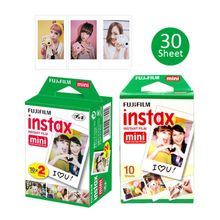 Original Fujifilm Fuji Instax Mini White Film 30 Sheet For Instant Mini 8 70 25 50s NEO Classic 90 Photo Paper Camera SP-1 SP-2