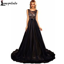 Soiree Sheer Lace Mesh Overlay Blue Queen Party Gown Robe Longue Formal Dresses Autumn Vestidos De Renda Feminino Marry Dress