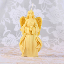 angel shaped food safe silicone candle molds FDA certified and nontoxic silicone rubber mold for DIY soap and candle ,clay molds(China)