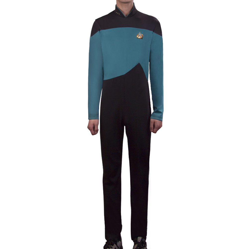 Star Trek Jumpsuit Cosplay Costume Blue Halloween Uniform For Women Men