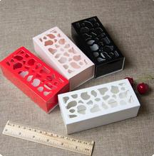 Hollow Colorful Drawer Box Retail Party Favor Handmade Soap Gift Macaron/Chocolate/Candy Packaging Boxes 13*6*4cm