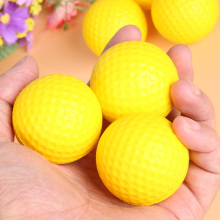 12pcs Golf PU Ball Interior Beginner Training Soft Ball Indoor Outdoor Golfer Club Practice Soft Ball Yellow Childrens Toy
