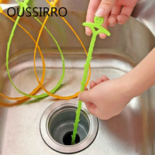 Bathroom Hair Sewer Cleaning Brush Kitchen Sink Tub  Dredge Pipe Toilet Snake Brush Tools Creative Kitchen Bathroom facilities
