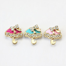5pcs/lot Colorful Oil Drop Umbrella With Flower Shape Design Crystal Home Button Sticker For Iphone 6 6plus 6s 6s-plus For Ipad(China)
