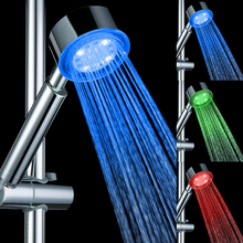 Water Temperature Led Shower Head Bath Sprinkler LED Colorful Temperature Sensor Shower head Bathroom Faucets(China)