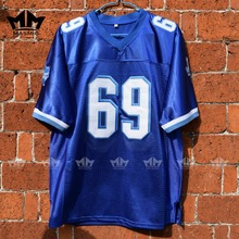 MM MASMIG Varsity Blues Billy Bob 69 American Football Jersey Blue(China)