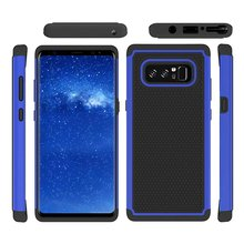for Samsung Galaxy Note 8 Shockproof Heavy Armour Hybrid Tough Football Skin Hard Plastic Soft Rubber Silicone Cover Cases(China)